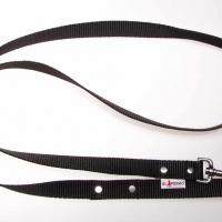 180 cm hosszú, 2,5 cm széles JUICY póráz - fekete