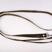 180 cm hosszú, 2,5 cm széles JUICY póráz - kheki