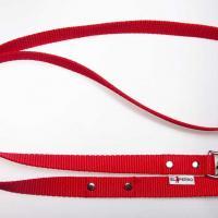 180 cm hosszú, 2,5 cm széles JUICY póráz - piros
