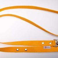 180 cm hosszú, 2,5 cm széles JUICY póráz - sárga