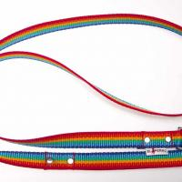 180 cm hosszú, 2,5 cm széles JUICY póráz - szivárvány